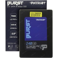 SSD 240GB SATA PATRIOT BURST