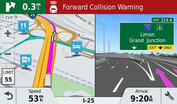 navigacija sunkvezimiui, furine navigacija, sunkveziminiai parametrai, furiniai nustatymai, sunkveiminiai marsrutai,juostu rodymas, active lane guidance